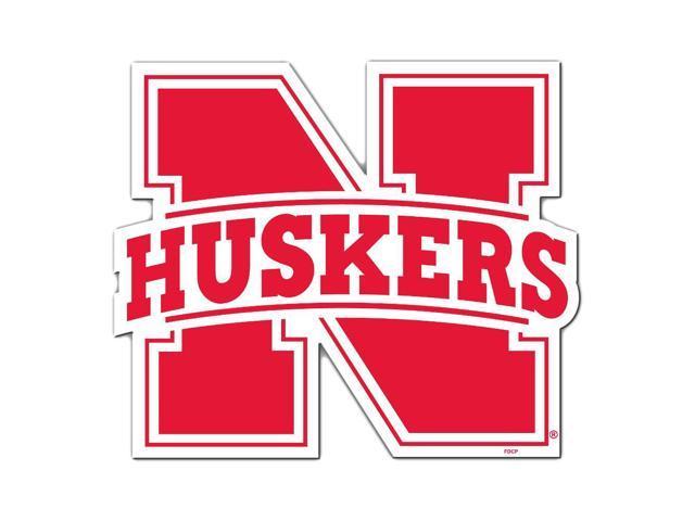 Fremont Die College Sports Team Logo Nebraska Cornhuskers Door Stick Vinyl Magnet