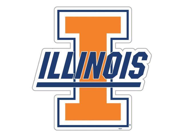 Fremont Die College Sports Team Logo Illinois Fighting Illini Door Stick Vinyl Magnet