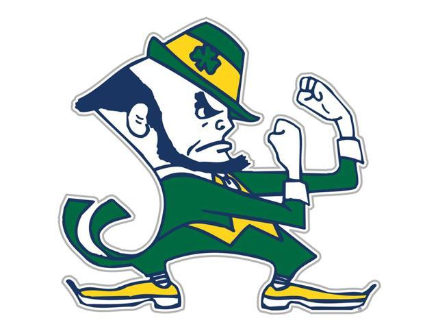 Fremont Die College Sports Team Logo Notre Dame Fighting Irish Door Stick Vinyl Magnet