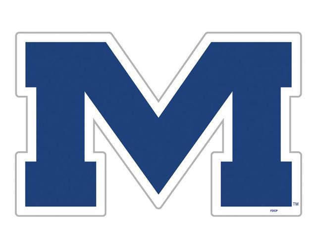 Fremont Die College Sports Team Logo Mississippi Rebels Door Stick Vinyl Magnet