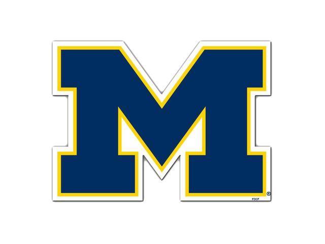Fremont Die College Sports Team Logo Michigan Wolverines Door Stick Vinyl Magnet