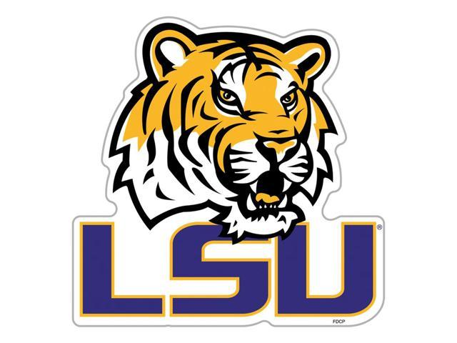 Fremont Die College Sports Team Logo Louisiana State Tigers Door Stick Vinyl Magnet