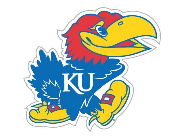 Fremont Die College Sports Team Logo Kansas Jayhawks Door Stick Vinyl Magnet