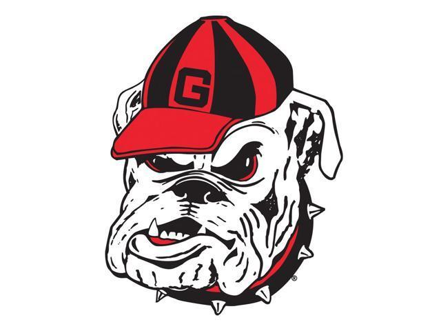 Fremont Die College Sports Team Logo Georgia Bulldogs Door Stick Vinyl Magnet - 58721