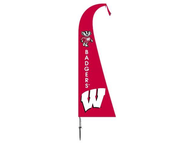 BSI Decorative Sports Team logo Wisconsin Badgers Feather Flag