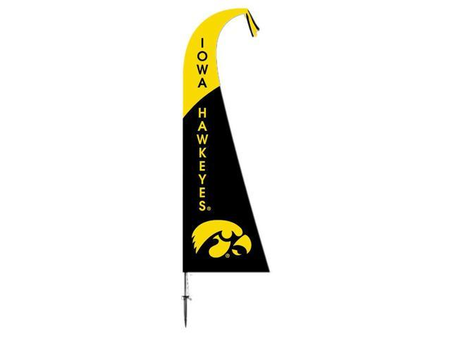 BSI Decorative Sports Team logo Iowa Hawkeyes   Feather Flag