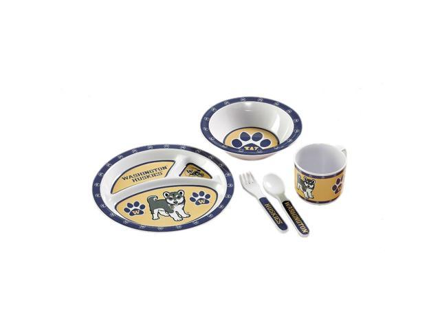 BSI Washington Huskies Kid's 5 Pc. Dish Set