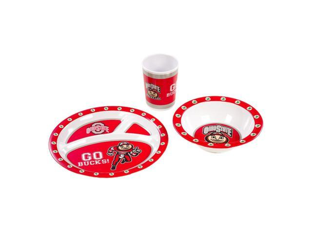 BSI Ohio State Buckeyes Kid's 3 Pc. Dish Set