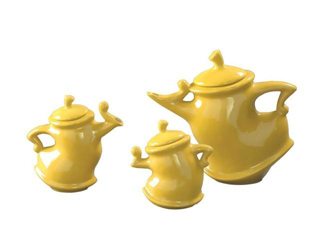 Howard Elliott Home Decorative Canary Whimsical Tea Pots