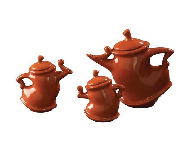Howard Elliott Home Decorative Russet Whimsical Tea Pots