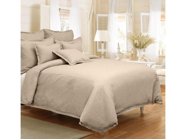 Veratex Home Decorative Bedding Gotham Linen Sham King Stone