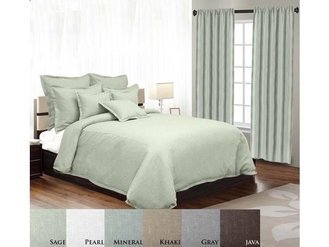 Veratex Home Decorative Bedding Gotham Linen Duvet Cover Full/Queen Linen