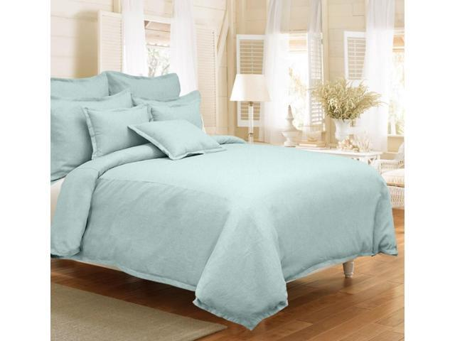 Veratex Home Decorative Bedding Gotham Linen Duvet Cover Full/Queen Mineral Blue