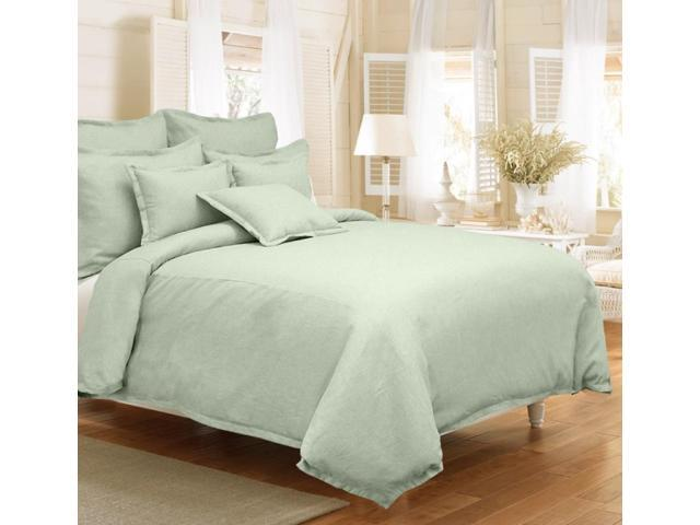 Veratex Home Decorative Bedding Gotham Linen Duvet Set King Sage