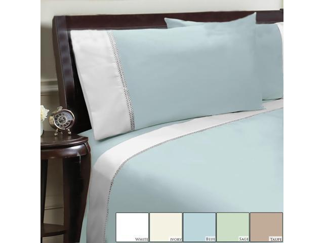 Veratex Home Decorative Bedding Collection Duet 300Tc Sheet Set Full Taupe