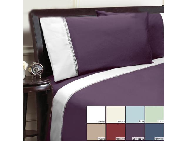 Veratex Home Decorative Bedding Collection Duet 500Tc Pillowcase Pair King Ivory