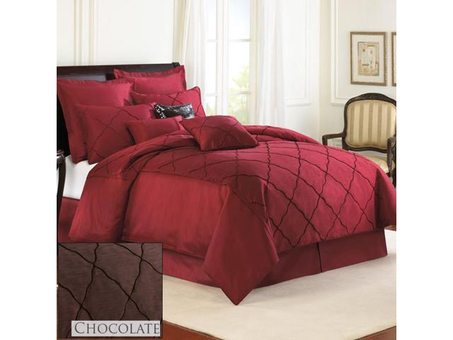 Veratex Home Decorative Bedding Collection Diamonte Boudoir Pillow Mineral 14 x 20