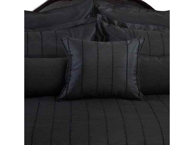 Veratex Home Decorative Bedding Collection Braxton Euro Sham Black