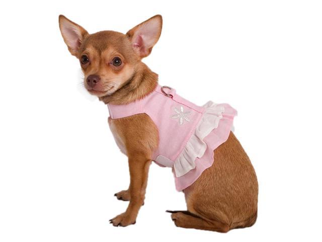Doggles HADHXX02 XXS Hemp Dress Harness with Flower - Pink