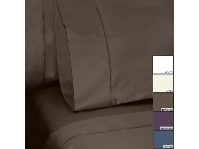 Veratex Home Decorative Bedding Collection Bella 800Tc Sheets Pillowcase Pair Standard Mulberry