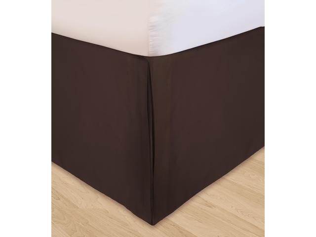 Veratex Home Decorative Bedding Collection Huys Solid Microfiber Huys Bed Ruffle C.King Chocolate