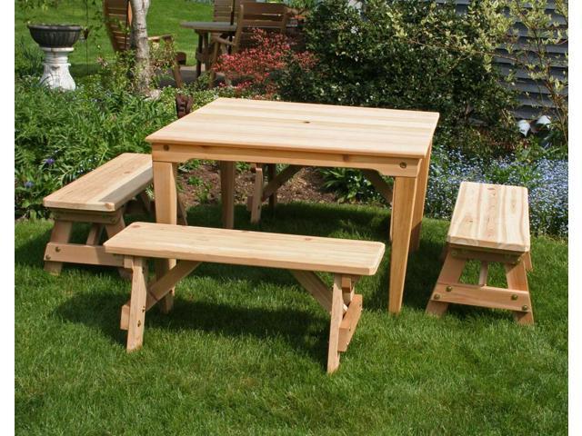 Creekvine Designs Outdoor Cedar Social Dining Set