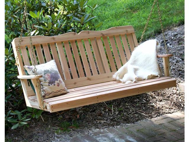 Creekvine Designs Outdoor Patio Garden 4' Cedar Countryside Porch Swing
