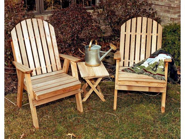 Creekvine Designs Home Garden Cedar Fanback Patio Chair