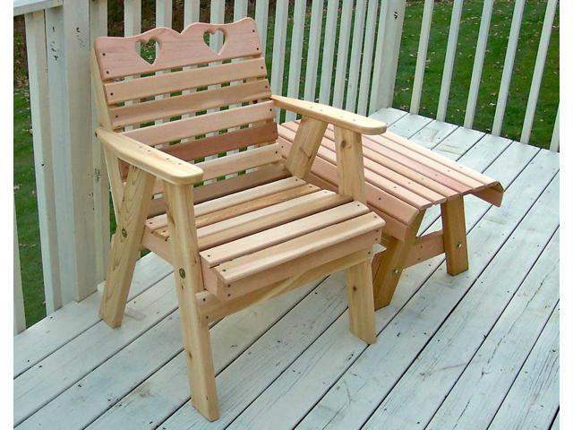 Creekvine Designs Home Outdoor Cedar Country Hearts Patio Chair