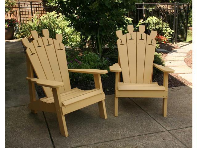 Creekvine Designs Home Outdoor Cedar Wine Glass Adirondack Chair
