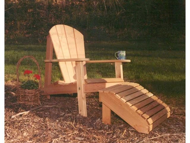 Creekvine Designs Home Outdoor Cedar Adirondack Chair and Footrest Set