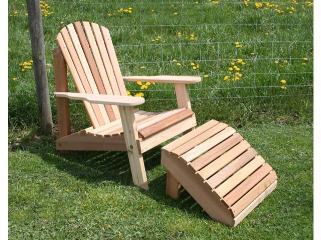 Creekvine Designs Cedar American Forest Adirondack Chair and Footrest Set
