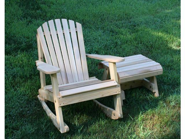Creekvine Designs Cedar American Forest Adirondack Rocker and Side Table Set