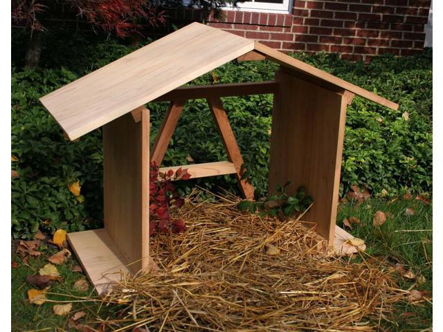Creekvine Designs 3 Ft Cedar Manger with Open Back