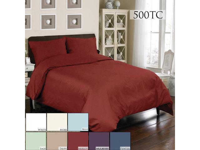 Veratex Home Decorative Bedding Accessories Mini Duvet Set 500Tc Duvet Set Twin White
