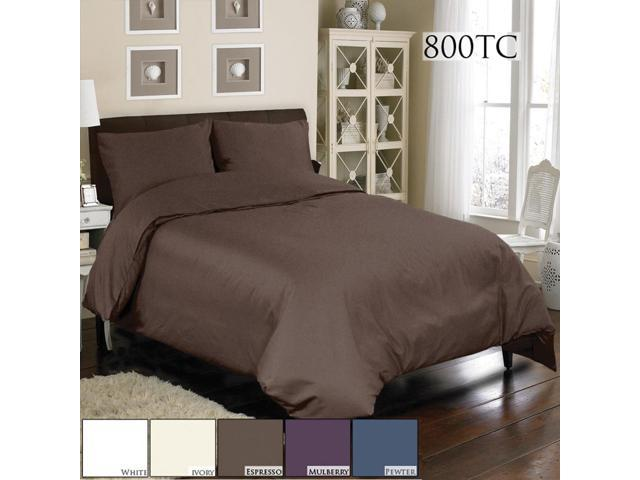 Veratex Home Decorative Bedding Accessories Mini Duvet Set 800Tc Duvet Set Queen Espresso