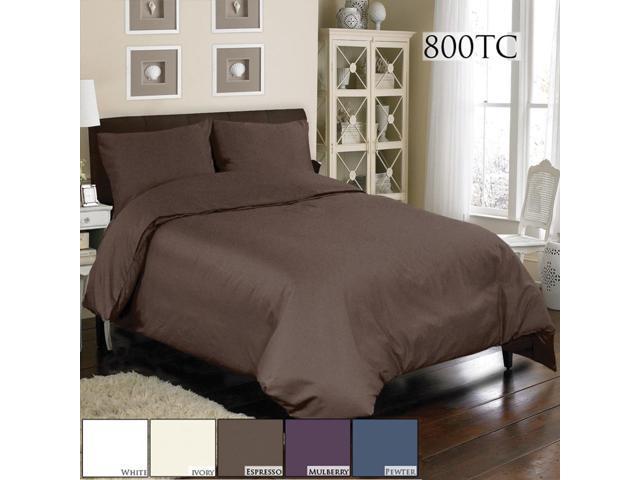 Veratex Home Decorative Bedding Accessories Mini Duvet Set 800Tc Duvet Set Full Espresso