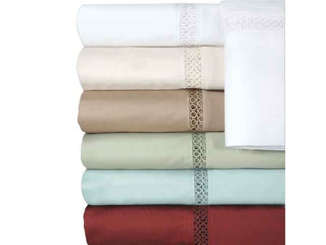 Veratex Home Bedroom Decorative Accessories Princeton Coll 500Tc Bedding Sheet Set Twin Sage