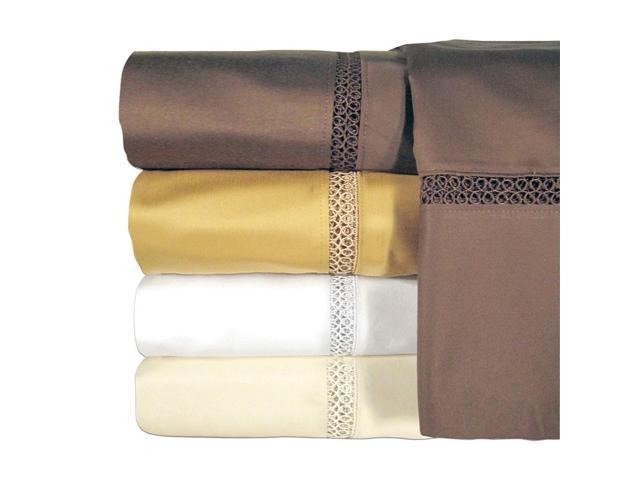 Veratex Home Decorative Bedroom Princeton Coll 800Tc Pillowcase Pair King Ivory