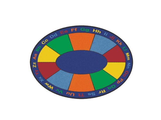 Learning Carpets Indoor Outdoor Playmat ABC Squares - CPR486 Oval 9' x 12'