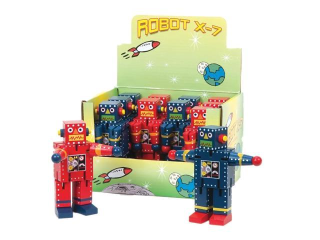 The Original Toy Company Children Playing Mini Robot X-7 Display of 12