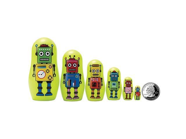 The Original Toy Company Robot Micro Nesting Dolls Set