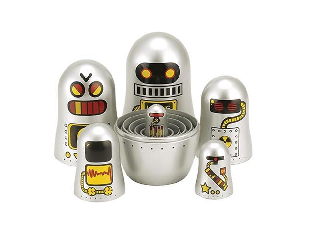 The Original Toy Company Children Kids Playing Robot Nesting Doll