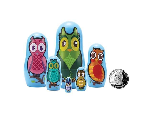The Original Toy Company Owl Micro Nesting Dolls Set