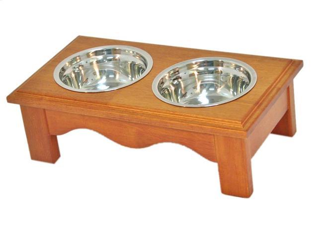 Crown Pet Home Indoor Diner, Small size, with Chestnut Finish