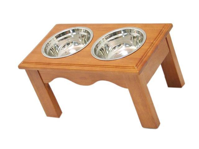 Crown Pet Home Indoor Diner, Medium size, with Chestnut Finish