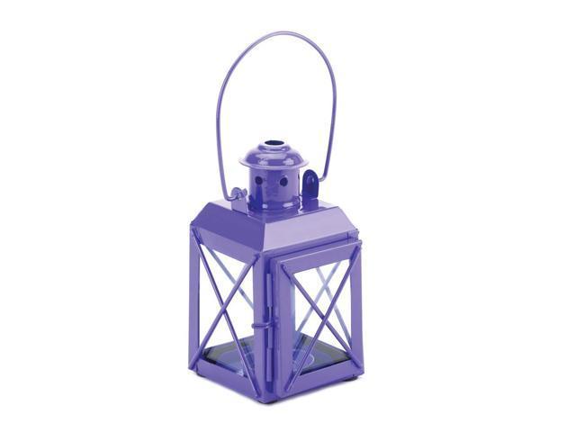 Koehler Home Kitchen Decorative Gift Purple Railway Candle Lantern Lamp
