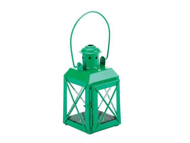 Koehler Home Kitchen Decorative Gift Green Railway Candle Lantern Lamp