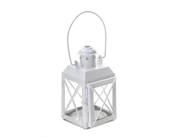 Koehler Home Kitchen Decorative Gift White Railway Candle Lantern Lamp