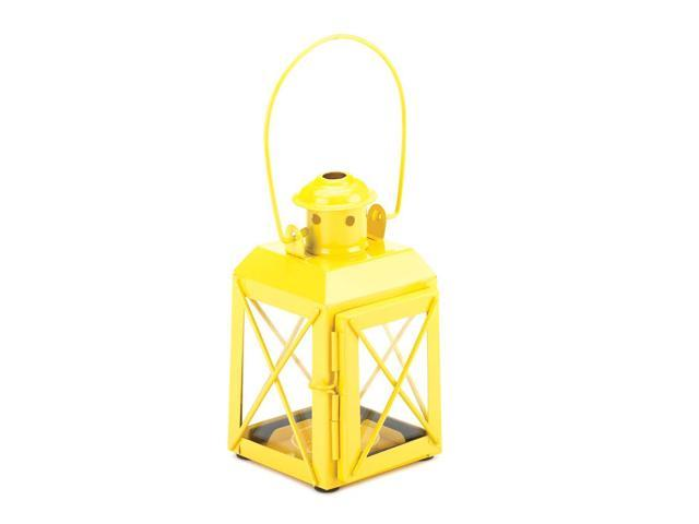 Koehler Home Kitchen Decorative Gift Yellow Railway Candle Lantern Lamp